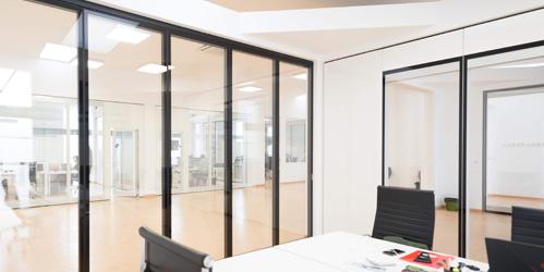 Glazed sliding wall GSF70