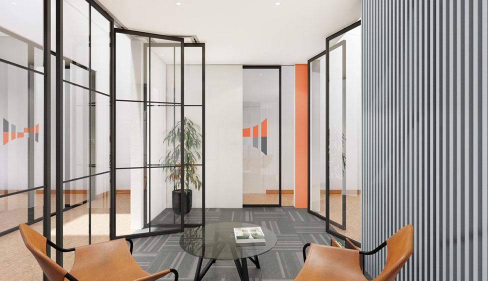 Sliding glass partitions London